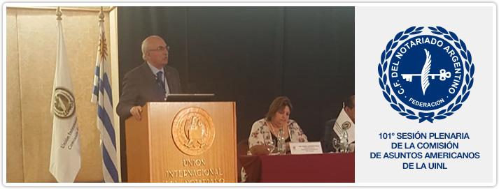 101º Sesión Plenaria de la Comisión de Asuntos Americanos de la UINL