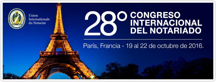 Se desarolló en París el 28 Congreso Internacional del Notariado