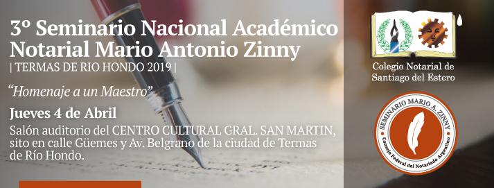 3er Seminario Nacional Académico Notarial - Mario Antonio Zinny