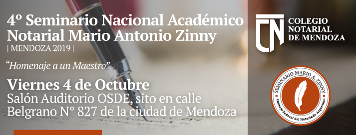 4to Seminario Nacional Académico Notarial - Mario Antonio Zinny