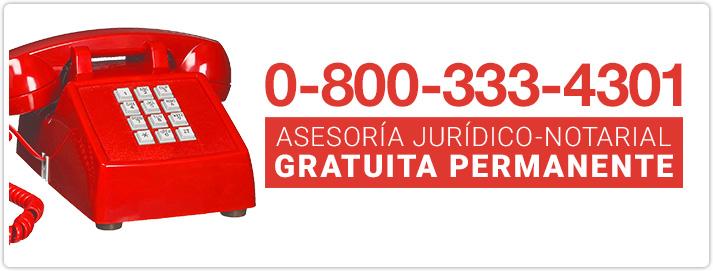 Asesoría Notarial 0800 Permanente