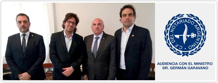 Audiencia con el Ministro de Justicia y Derechos Humanos de la Nación. Dr. Germán Garavano