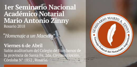 1er Seminario Nacional Académico Notarial - Mario Antonio Zinny