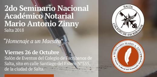 2do Seminario Nacional Académico Notarial - Mario Antonio Zinny