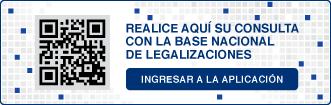 Consulta QR sobre Base Nacional de Legalizaciones