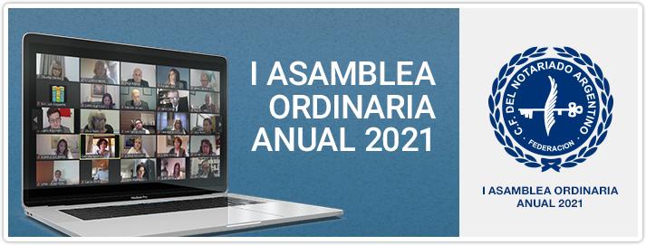 I Asamblea Ordinaria Anual 2021