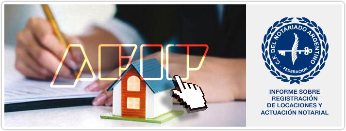 Informe sobre Registración de Locaciones y Actuación Notarial