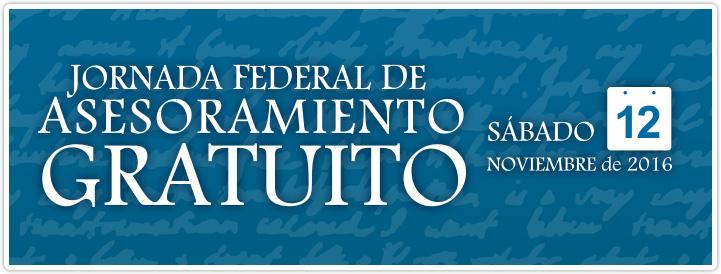 banner jornada federal asesoramiento gratuito 2016
