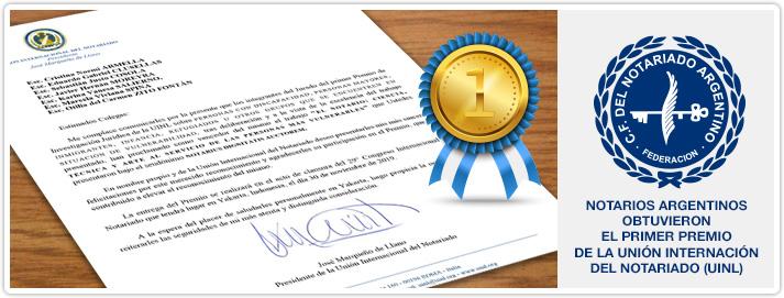 Notarios argentinos obtuvieron el primer premio de La Unión Internación del Notariado (UINL)