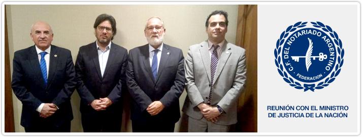 Reunión con el Ministro de Justicia de la Nación