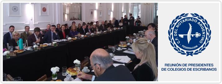 Reunión de Presidentes de Colegios de Escribanos del país en el CFNA
