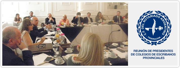 Reunión de Presidentes de Colegios de Escribanos Provinciales