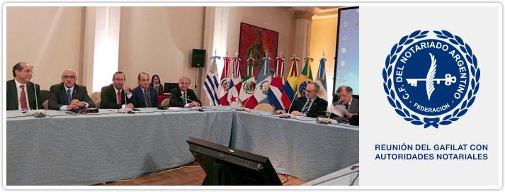 Reunión del GAFILAT con autoridades notariales