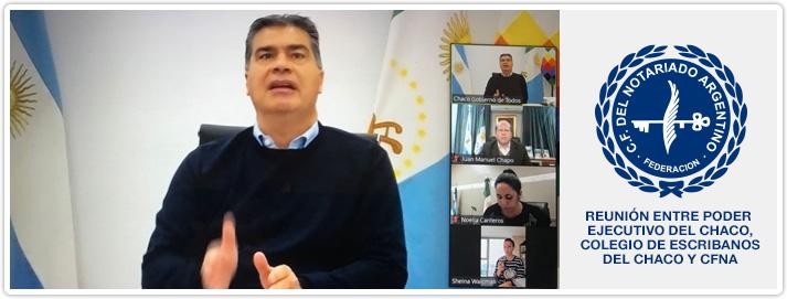Reunión entre Poder Ejecutivo de la Provincia del Chaco, Colegio de Escribanos del Chaco y Consejo Federal del Notariado Argentino
