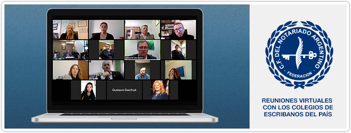 Reuniones Virtuales con los Colegios de Escribanos del País