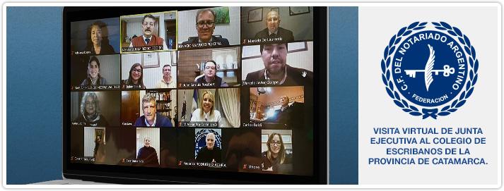 Visita Virtual de Junta Ejecutiva al Colegio de Escribanos de la Provincia de Catamarca