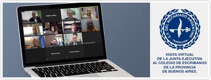 Visita Virtual de Junta Ejecutiva al Colegio de Escribanos de la Provincia de Buenos Aires
