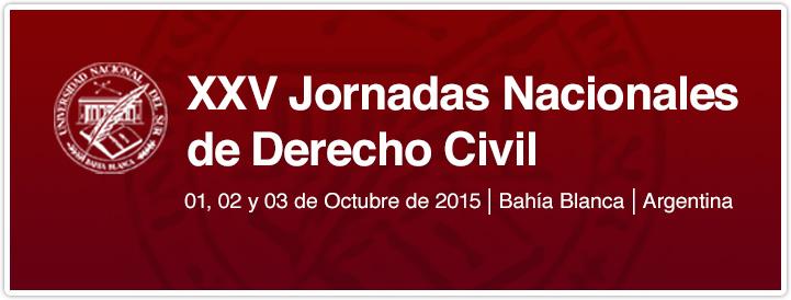 XXV Jornadas Nacionales de Derecho Civil